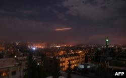 Ракетно-бомбовый удар армии Израиля по целям под Дамаском. 21 января 2019 года