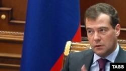 """Президент Медведев призывает: """"Россия, вперёд!"""""""