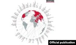 """Рейтинг """"Врагов интернета"""" от """"Репортеров без границ"""" в 2014 году"""