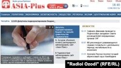 "Tajikistan -- Screenshot first page of web-site of Tajik Information Agency ""Asia-Plus"", 13Jun2012"