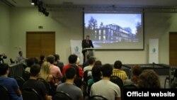 Վրաստանի էկոնոմիկայի և կայուն զարգացման նախարար Գեորգի Կվիրիկաշվիլին ելույթ է ունենում Թբիլիսիի Տեխնոլոգիայի և նորարարության կենտրոնում , արխիվ