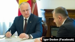 Igor Dodon, la întâlnirea cu premierul și spicherul