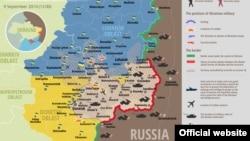 Харитаи вазъ дар шарқи Украина