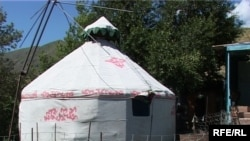 A yurt in the Almaty region of Kazakhstan