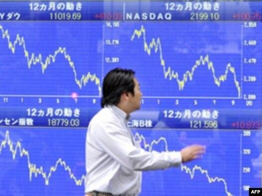 نمودارهای لرزان در بورس ژاپن