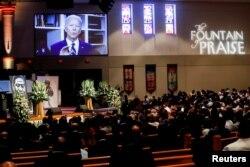 Mesazhi i ish-nënpresidenti amerikan Joe Biden, është shfaqur gjatë ceremonisë mortore të Floyd.