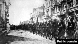 Американские войска во Владивостоке, август 1918 года