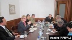"""Германия тышкы эшләр министрлыгында """"Көнчыгыш партнерлык"""" програмы житәкчесе Сьюзанна Шютц белән сөйләшүләр"""