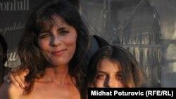 Mira Furlan sa sinom na otvaranju Sarajevo Film Festivala (23. juli 2010.)