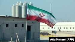 The national flag flies at Iran's Bushehr nuclear power plant in November.