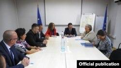 Shefja e EULEX-it, Alexandra Papadopoulou në takim me kryetarët e komunave veriore
