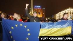 Участники Евромайдана в Киеве
