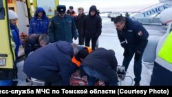 Отправка пострадавших при пожаре в Нижний Новгород