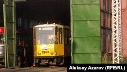 Трамвай в депо в Алматы. Иллюстративное фото.