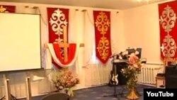 Интерьер церкви «Новая жизнь» в одном из регионов Казахстана. 1 ноября 2013 года.