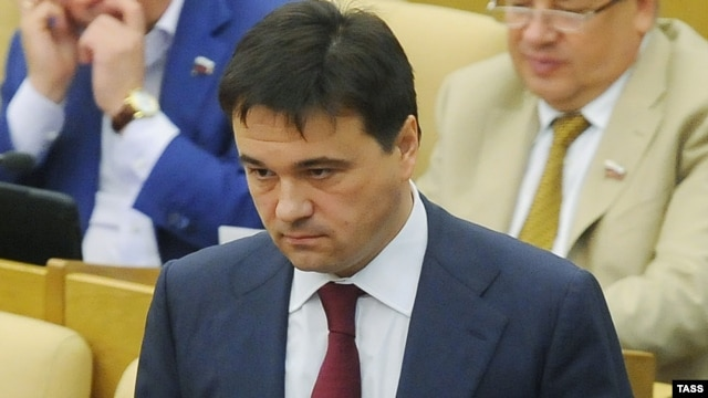 United Russia parliamentary faction leader Andrei Vorobyov at a State Duma session in July