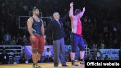Iran -- Parviz Hadi, Iranian Wrestler, undated