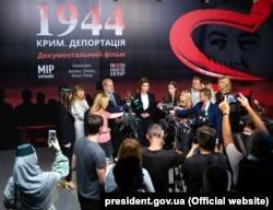 Під час презентації документального фільму «1944», приуроченого до Дня пам'яті жертв геноциду кримськотатарського народу. Київ, 17 травня 2019 року