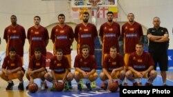Кошаркарската репрезентација на Македонија.