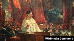 Аляксандр Герасімаў, «Даклад І. В. Сталіна на 16 зьезьдзе УКП(б)» (1931)