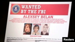 An FBI wanted poster featuring suspected Russian hackers