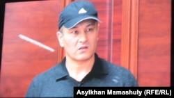 Рустам Ибрагимов, осужденный по делу об убийстве оппозиционного политика Алтынбека Сарсенбаева. Каскелен, 27 января 2014 года.