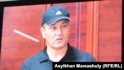 Бывший сотрудник полиции Рустам Ибрагимов, осужденный по делу об убийстве Алтынбека Сарсенбаева. 27 января 2014 года.
