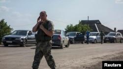 """Один из пунктов пропуска """"Изварино"""", по-прежнему контролируемый украинскими пограничниками"""