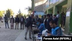 آغاز روند رأیدهی در لیسه زرغونه شهر کابل از سوی کمیشنران کمیسیون مستقل انتخابات افغانستان