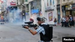 Совсем недавно в центре Стамбула было неспокойно