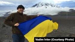 Вадим Івлєв під час експедиції на острові Херд 2016 року