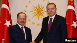 Recep Tayyip Erdoğan və İraq kürdlərinin lideri Məsud Bərzani