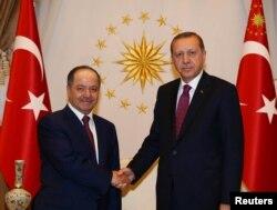 Ирактык күрттөрдүн лидери Масуд Барзани жана Түркиянын президенти Режеп Тайып Эрдоган. Анкара. 23-август, 2016-жыл