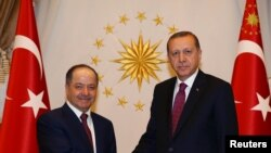 Режеп Тайип Эрдоган менен Масуд Барзани