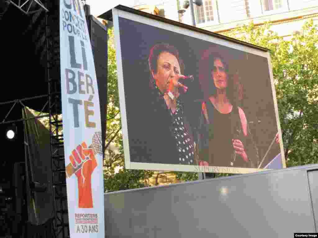 شیرین عبادی، برنده جایزه صلح نوبل، از جمله سخنرانان در «کنسرتی برای آزادی» بود