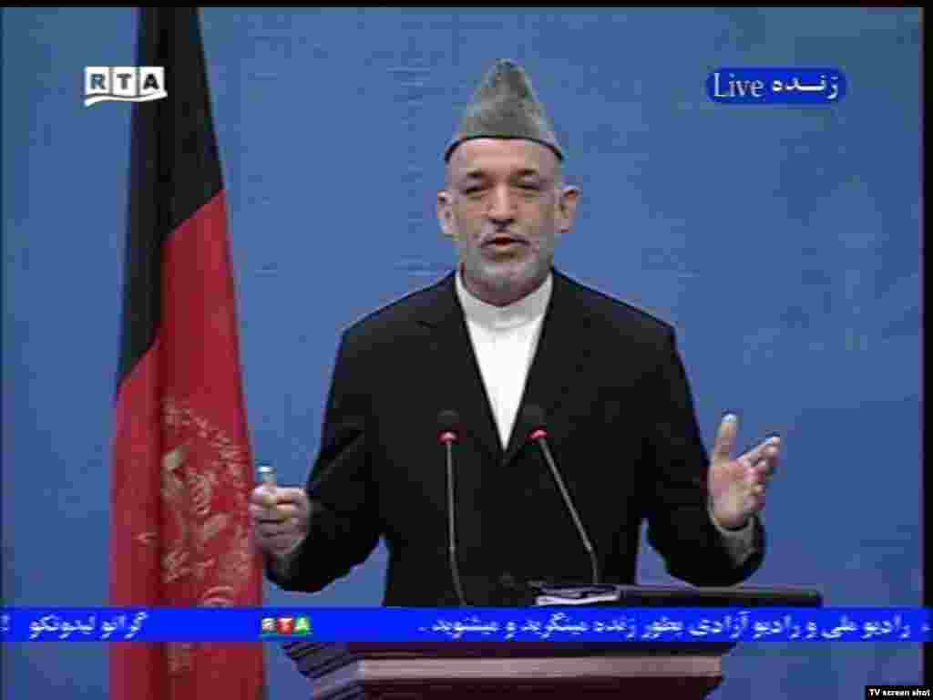 "Hamid Karzai: ""The real war on terrorism is not inside Afghanistan... foreign forces should be our guests."" - A major topic addressed during the debate was the proper role of foreign armed forces in Afghanistan. According to Karzai, ""The real war on terrorism is not inside Afghanistan, inside its villages and homes, and against its people. It is outside the borders of Afghanistan."" He added, ""We should be the host, and foreign forces should be our guests."