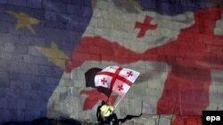 Վրաստան - Թբիլիսիում տոնում են Եվրամիության հետ Ասոցացման համաձայնագրի ստորագրումը, 27-ը հունիսի, 2014թ․