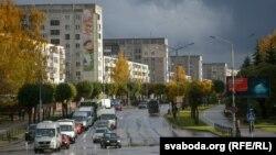 Вуліца Моладзевая ў Наваполацку