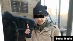 """A photo shared on VKonkakte by """"Adam al-Almany,"""" seemingly a Russian-speaking Chechen from Germany, purportedly showing 15-year-old Abu Yusuf Ansary, a fighter for Islamic State for whom Almany was seeking a Chechen wife."""