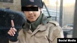 """Фотография якобы """"юного борца"""" организации """"Исламское государство"""" из российской социальной сети VKonkakte."""