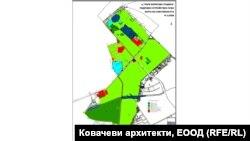 """Картата на собствеността в парка """"Борисовата градина"""", заложена в ПУП."""