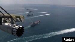 Российские военные корабли в акватории Черного моря.