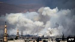 Ускраіны Дамаска 15 сакавіка 2017. Ілюстрацыйнае фота