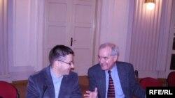 Tvrtko Jakovina i Charles Ingrao na predstavljanju knjige, Foto: Enis Zebić