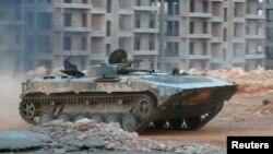 خودروی زرهی متعلق به گروه فتحالشام در حلب