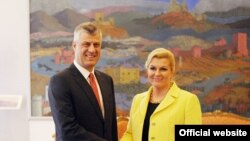 Hashim Thaçi në takimin me presidenten e Kroacisë Kolinda Grabar-Kitaroviq