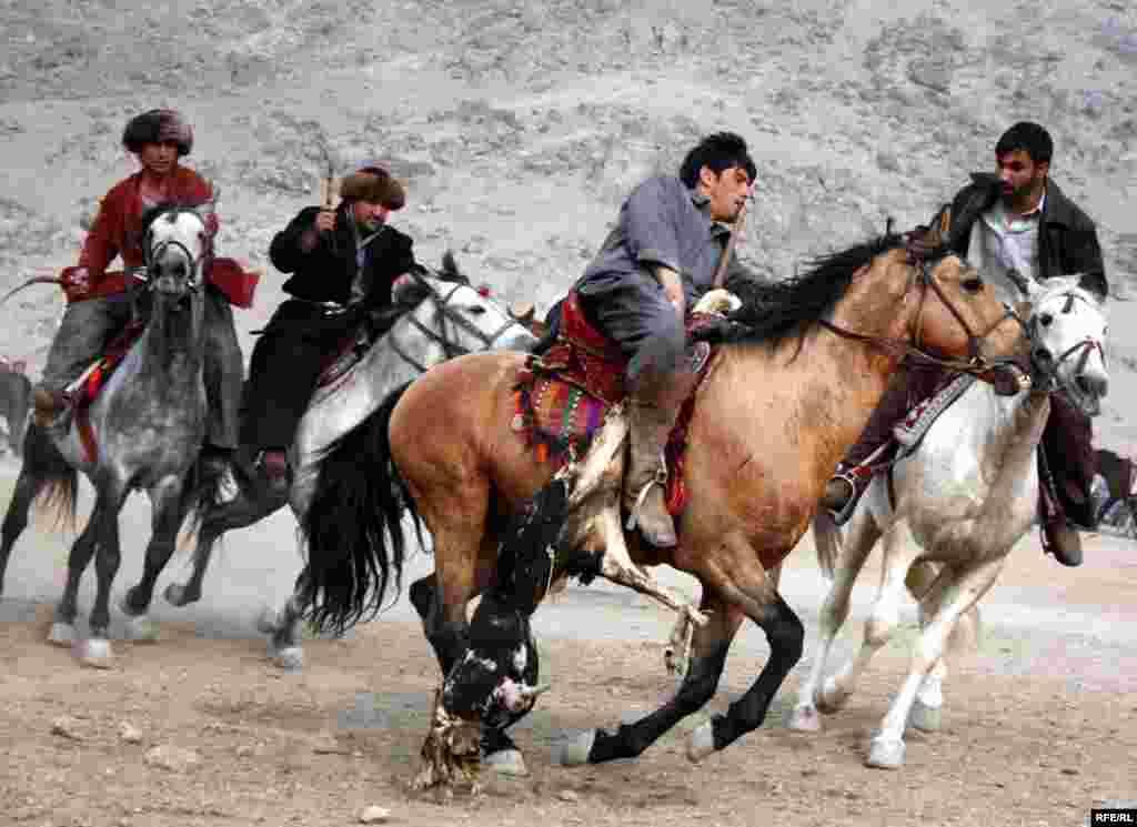 بزکشی ورزش ملی افغانستان، یک بازی سنتی گروهی است که با اسب انجام میشود. این بازی در میان مردمان آسیای میانه معمول است.