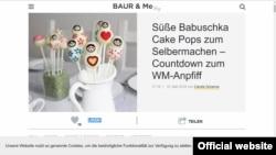 """Попкейк """"БабУшка"""". Скриншот сайта baur.de"""