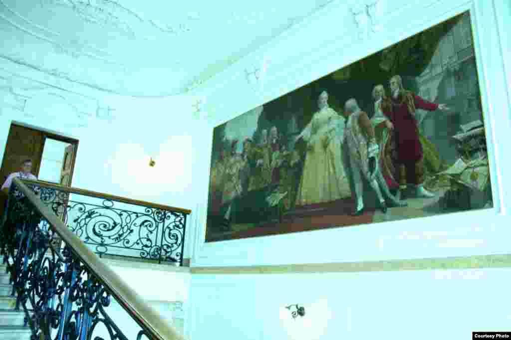 تصویری از ملکه ماریا ترزا ملکه امپراتور مقدس روم در ساختمان آرشیو