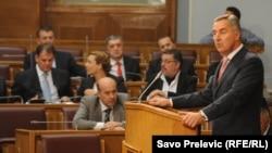 Milo Đukanović u Parlamentu, ilustrativna fotografija